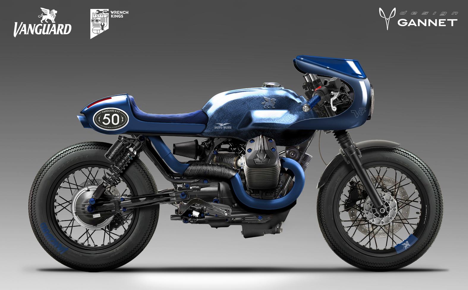 Vanguard Moto Guzzi V7 – GANNET Design